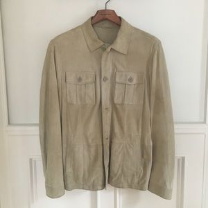 Other - Leather jacket shirt. Made in Italy
